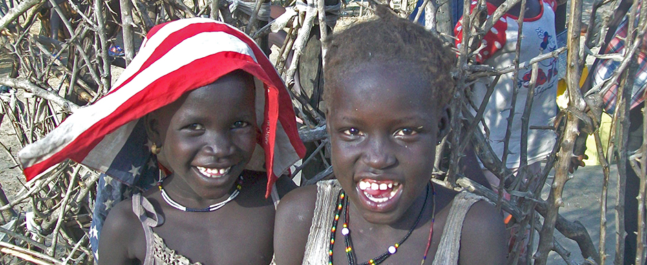 Joyful children at play in Pibor, Jonglei State